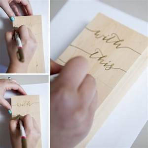 make your very own wooden block wedding ring holder With diy wedding ring
