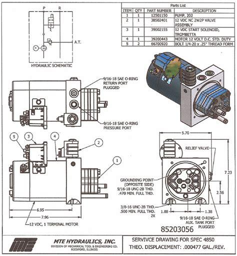 Hydraulic Power Pack Dump Trailer Pump