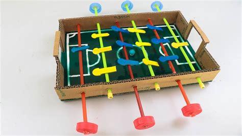 make cardboard foosball table diy how to make a mini foosball table table football