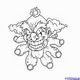 Coloring Pages Pennywise Clown Scary Printable Getcolorings Fantastic sketch template