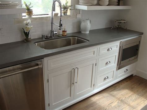 countertops for white cabinets shaker style cabinets and concrete gray quartz countertop