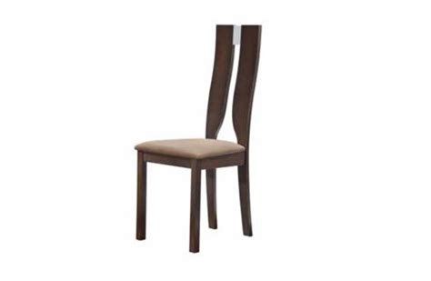 wood dining chair with unique back cutout and high back