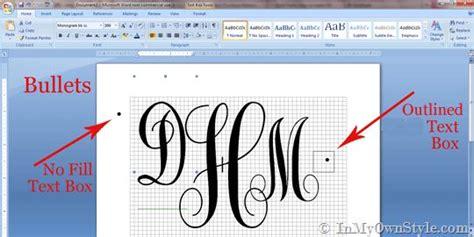 create  monogram  microsoft word words microsoft  monograms