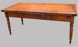 Table Bois Rectangulaire : table de ferme ancienne en bois fruitier avec 2 allonges ~ Teatrodelosmanantiales.com Idées de Décoration