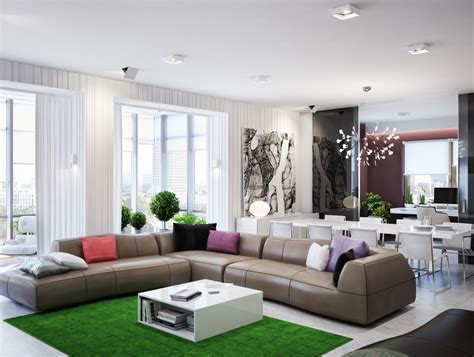 Modern Zoning In Ukrainian Apartment by Modern Zoning In Ukrainian Apartment
