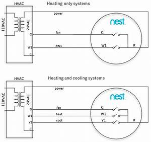 Nest Thermostat Wiring Diagram Heat Only