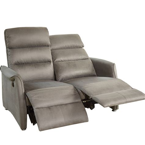 canape de relaxation 2 places canap 233 relax 233 lectrique 2p gris softy univers salon tousmesmeubles