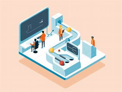 Machine Animation Process Dribbble Vector Security Shots