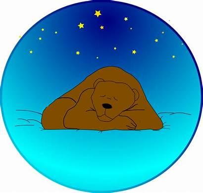 Bear Sleeping Clip Stars Under Vector Circle