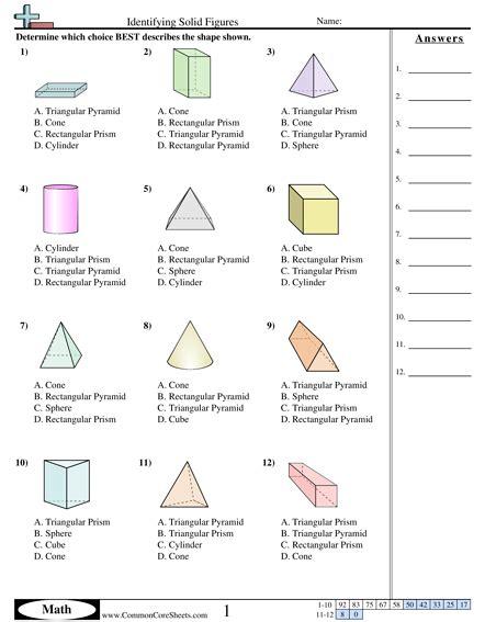 all worksheets 187 views of solids worksheets printable