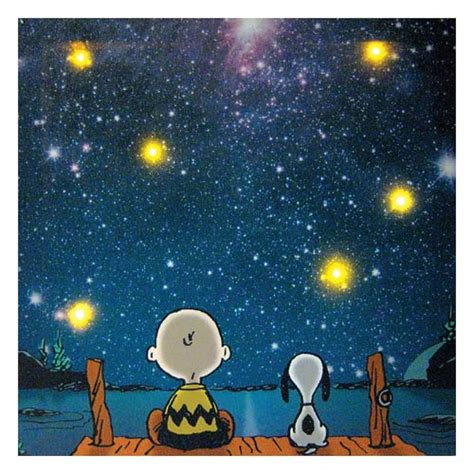 peanuts gazing lighted large canvas print wall