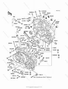 Kawasaki Motorcycle 2002 Oem Parts Diagram For Crankcase
