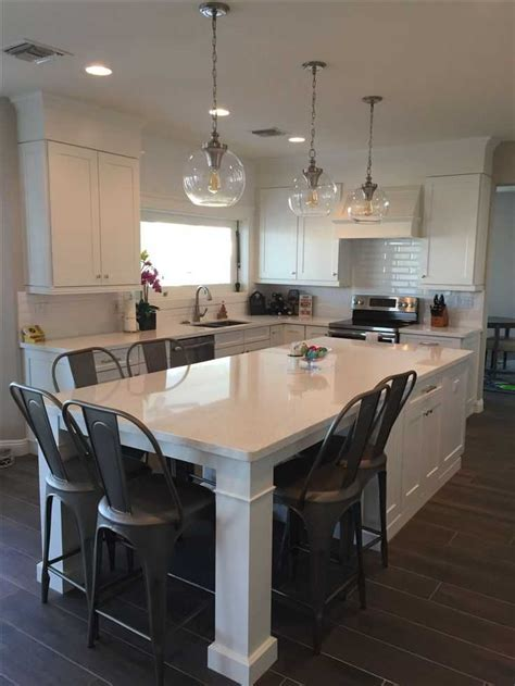 Long Kitchen Island With Seating Carts Ideas Islands 2018