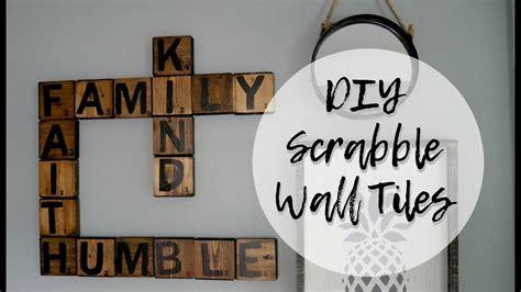 diy scrabble tiles wall art scrabble letters wall decor youtube