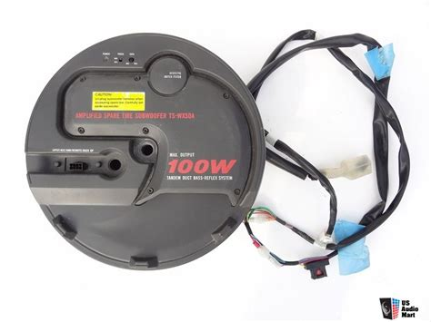 pioneer ts wx50 spare tire bass reflex subwoofer 962070 us audio mart