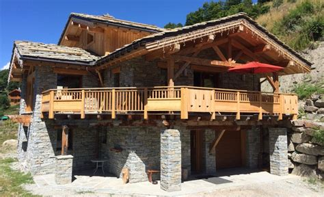 location chalet individuel le prestige authentique chalet savoyard en et bois avec spa