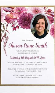 Funeral Memorial Announcement, Funeral Invitation, Modern ...