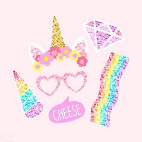   view 18 unicorn illustration, images and graphics from +50,000 possibilities. Cute unicorn photo booth party props vector   free image ...