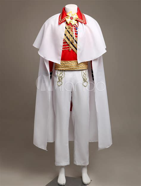Royal Retro Costume Menu0026#39;s Red European Vintage Prince Charming Costume Outfit Halloween ...