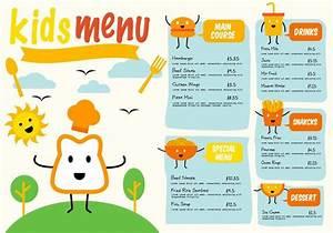 top 7 free vector of kids restaurant menu vector panic With free printable menu templates for kids