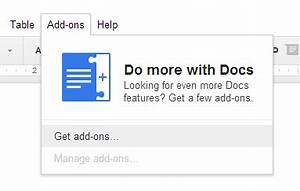 Google drive add ons for Google docs add highlight