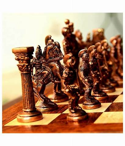 Chess Roman India Unravel Brass Wooden Multicolour