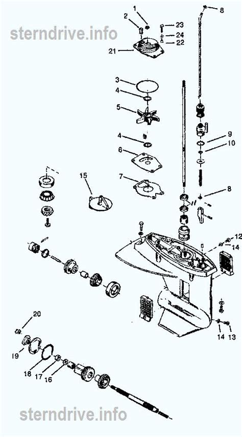 mercury outboard parts drawing xd   hp