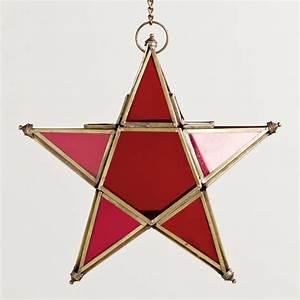 Small Red Star Lantern | World Market