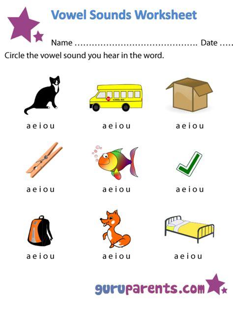 vowel worksheets guruparents