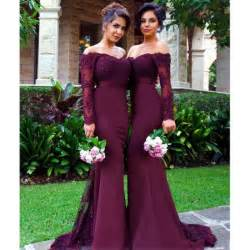 cheap burgundy bridesmaid dresses aliexpress buy burgundy bridesmaid dresses mermaid applique 2016 cheap