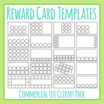 reward loyalty card templates clip art set