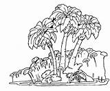 Rainforest Coloring Forest Trees Tree Jungle Rain Drawing Easy Tropical Plants Pages Getdrawings Popular sketch template