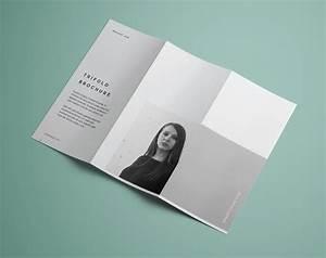 free premium tri fold brochure mockup psd good mockups With two fold brochure template psd