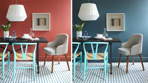 interior design one dining room two different wall