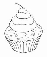 Sugar Coloring Cupcake Designlooter 16kb 611px sketch template