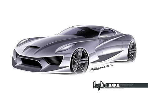 Supercar Design Sketch By Gary Ragle