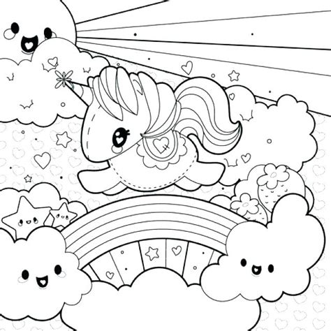 unicorn rainbow coloring pages  getcoloringscom