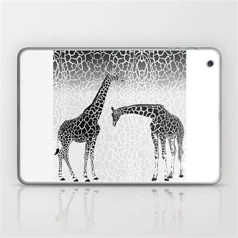 giraffe patterns  wallpaper laptop ipad skin