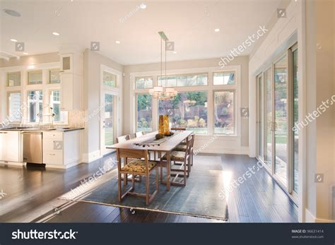 Beautiful Dining Room New Luxury Home Stock Photo 96631414