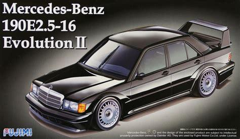fujimi rs 14 mercedes 190e 2 5 16 evolution ii 1 24 scale kit plaza japan