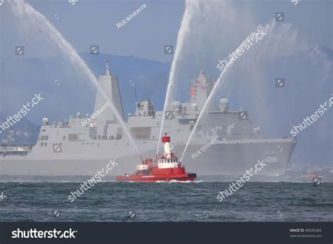 Fire Boat Pics by Fireboat Warship Stock Photo 40036360 Shutterstock