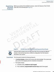 Verifone Vx520ctls Point Of Sale Terminal User Manual Vx
