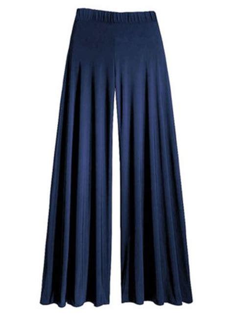 navy blue wide leg palazzo pantstrousers size