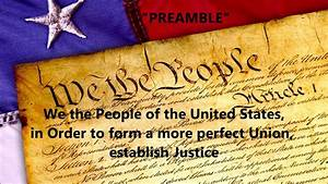 The Preamble To The United States Constitution Words Lyrics Assembly Patriotic Memorize