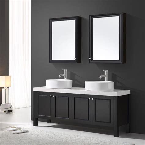 meuble de salle sanitaire 160 cm noir vasque