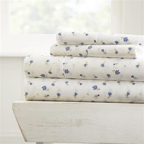 becky cameron soft floral patterned 4 piece light blue