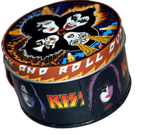 kiss rock  roll   candle tin