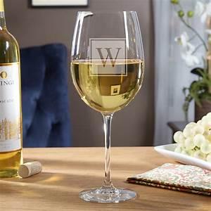 Block, Monogram, Personalized, Wine, Glass