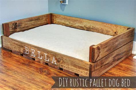 sweet bella my love diy rustic pallet dog bed