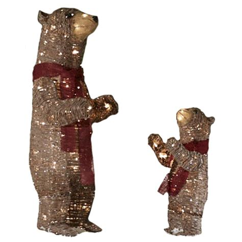lighted bear outdoor christmas decorations